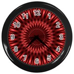 Red Lagoon Wall Clock (Black)