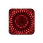 Red Lagoon Rubber Square Coaster (4 pack)