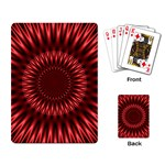 Red Lagoon Playing Cards Single Design