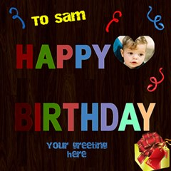 Boys Birthday 3d Card By Deborah   Happy Birthday 3d Greeting Card (8x4)   Wiwm68x3t17h   Www Artscow Com Inside