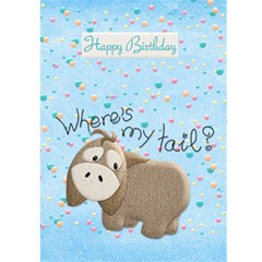 Happy Birthday 5x7 Card a by snackpackgu Back Cover