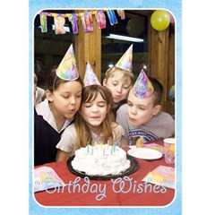 Happy Birthday 5x7 Card a by snackpackgu Front Cover