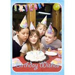 Happy Birthday 5x7 Card a - Greeting Card 5  x 7
