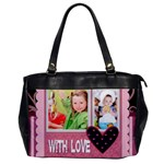 with love - Oversize Office Handbag (One Side)