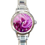 Pink Twist Round Italian Charm Watch