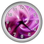 Pink Twist Wall Clock (Silver)