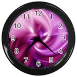 Pink Twist Wall Clock (Black)