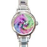 Multi Twist Round Italian Charm Watch