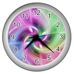 Multi Twist Wall Clock (Silver)
