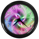 Multi Twist Wall Clock (Black)
