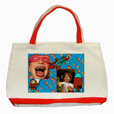 Space Red Tote By Deborah   Classic Tote Bag (red)   6nek7p32p5ss   Www Artscow Com Front