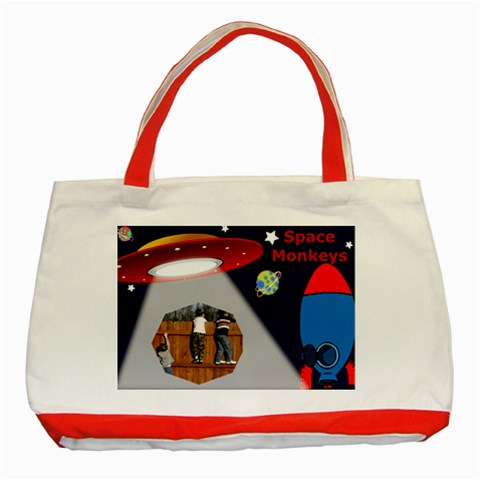 Space Monkeys Tote By Deborah   Classic Tote Bag (red)   Y574id9pcs8d   Www Artscow Com Front