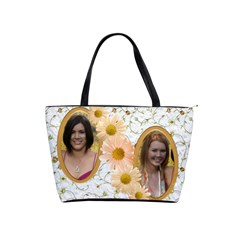 Apricot daisy shoulder bag by Deborah Front
