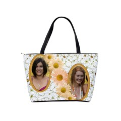 Apricot daisy shoulder bag by Deborah Back