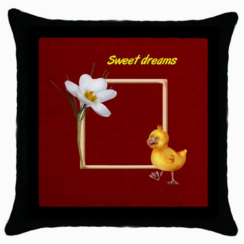 Sweet Dreams Pillow By Elena Petrova   Throw Pillow Case (black)   71cywqmmwvyt   Www Artscow Com Front