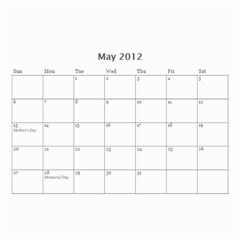 Nonna By Jennifer Mayer   Wall Calendar 8 5  X 6    M70v1nwstq7n   Www Artscow Com May 2012