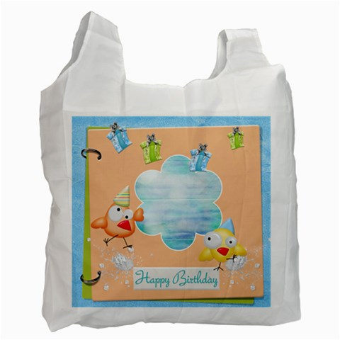 Birthday Recycle Bag (one Side) B By Snackpackgu   Recycle Bag (one Side)   8q0t4td64mde   Www Artscow Com Front