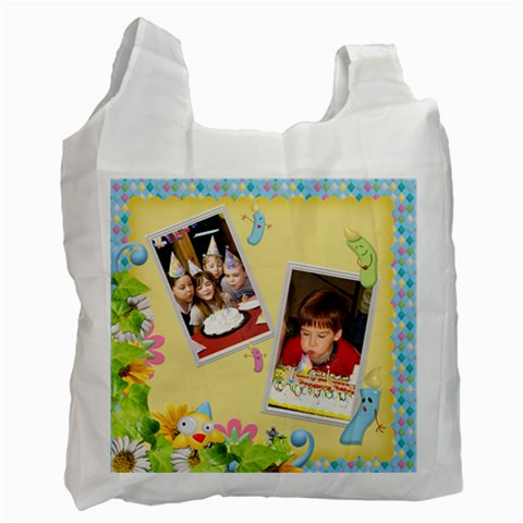Birthday Recycle Bag (One Side) c by snackpackgu Front