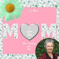 The world greatest Mom 3d Card by Deborah Inside