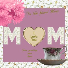 The Finest Mom 3d Card By Deborah   Mom 3d Greeting Card (8x4)   S3mzgh6w1ydc   Www Artscow Com Inside