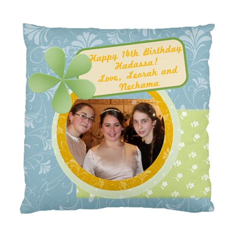 Hadassa s Birthday Present By Nechama Wagner   Standard Cushion Case (one Side)   In3sx14y8zzh   Www Artscow Com Front