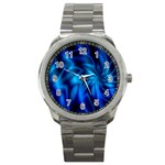 Blue Swirl Sport Metal Watch