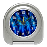 Blue Swirl Travel Alarm Clock