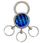 Blue Swirl 3-Ring Key Chain