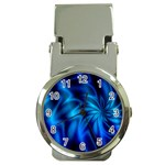 Blue Swirl Money Clip Watch