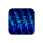 Blue Swirl Rubber Square Coaster (4 pack)