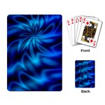 Blue Swirl Playing Cards Single Design