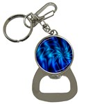 Blue Swirl Bottle Opener Key Chain