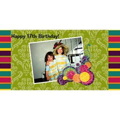 Chaya By Nechama Wagner   Happy Birthday 3d Greeting Card (8x4)   C0yhcwpbkqnr   Www Artscow Com Front