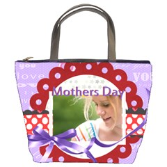 Mothers Day By Joely   Bucket Bag   F0afnwwtkvz8   Www Artscow Com Front