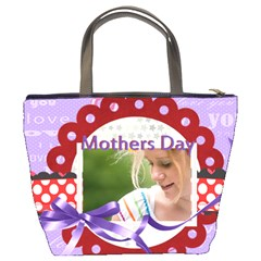 Mothers Day By Joely   Bucket Bag   F0afnwwtkvz8   Www Artscow Com Back