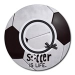 Round Mousepad, Soccer - Collage Round Mousepad