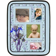 My Blue Iris Blanket (2 Sided) By Deborah   Double Sided Fleece Blanket (mini)   Zskw1wws2e37   Www Artscow Com 35 x27 Blanket Back