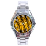 Golden Swirl Stainless Steel Analogue Men's Watch