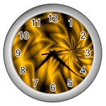 Golden Swirl Wall Clock (Silver)