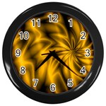 Golden Swirl Wall Clock (Black)