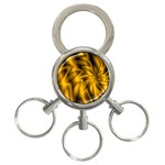 Golden Swirl 3-Ring Key Chain