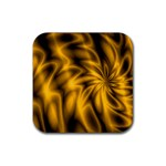 Golden Swirl Rubber Square Coaster (4 pack)