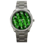 Green Swirl Sport Metal Watch