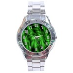 Green Swirl Stainless Steel Analogue Men's Watch