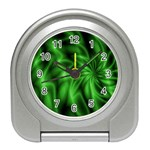 Green Swirl Travel Alarm Clock