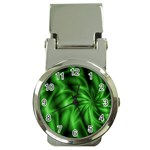 Green Swirl Money Clip Watch