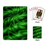Green Swirl Playing Cards Single Design