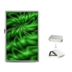 Green Swirl Flip Top Lighter