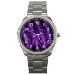 Lilac Swirl Sport Metal Watch