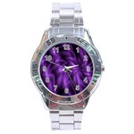 Lilac Swirl Stainless Steel Analogue Men's Watch